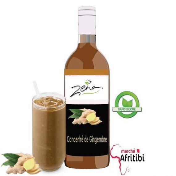 Sirop de Gingembre (Sans Sucre) - Zena #Afritibi