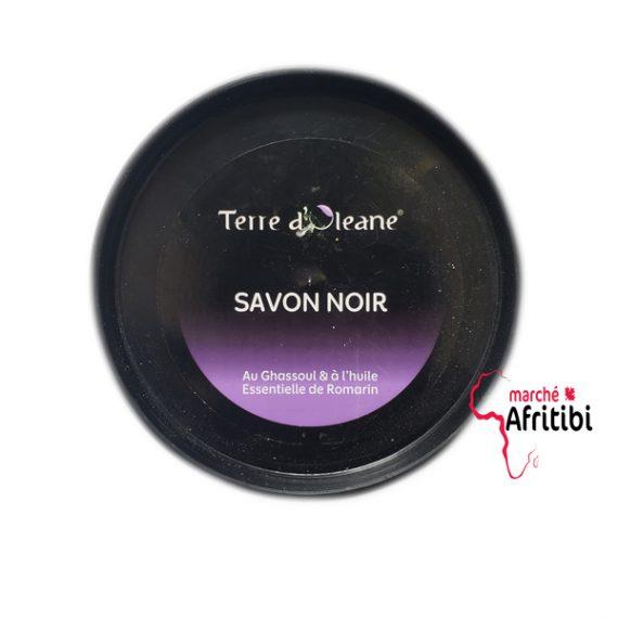 Savon noir Terre d'Oléane-Romarin et Ghassoul #afritibi