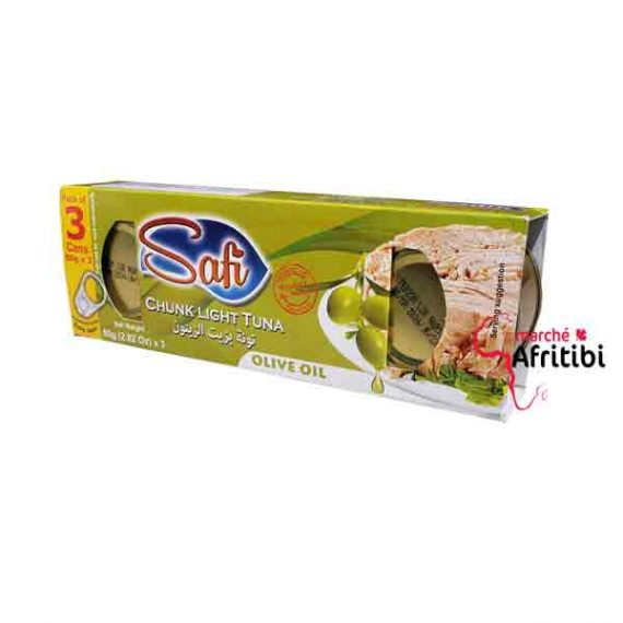 Tuna in Olive oil - Safi (Pack of 3*80g) #Afritibi